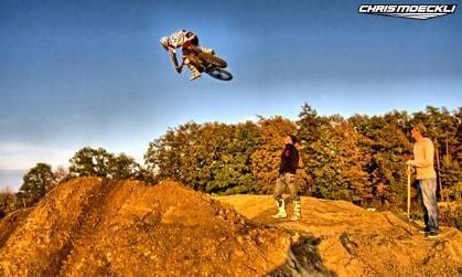 Motocross Honda Chris Moeckli in Schlatt - fun